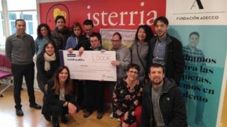 Visita de Fundación Adecco y Tecnoconfort a Isterria