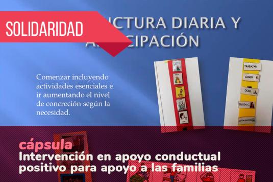 #CIVICANencasa. Intervención en apoyo conductual positivo para apoyo a las familias