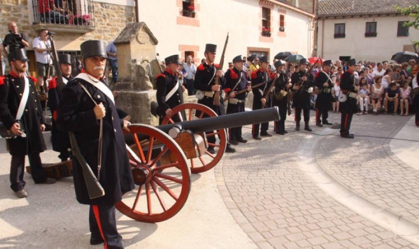 Recreación de la batalla de Abarzuza