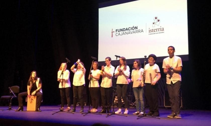 El coro de Isterria en la gala de Fundación Juan Bonal