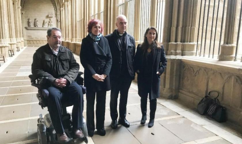 Final de los trabajos de restauración del Claustro de la Catedral de Pamplona