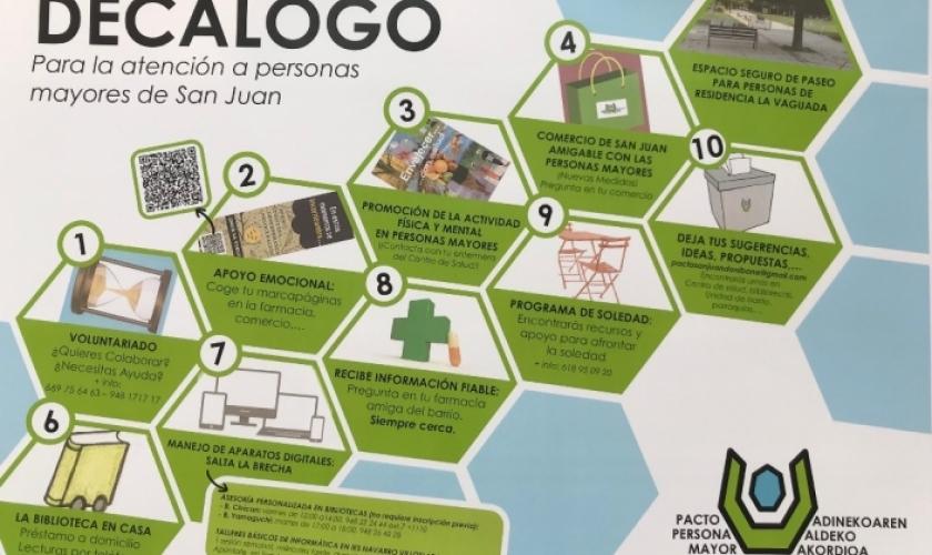 Tercer aniversario del Pacto por la Persona Mayor del barrio de San Juan Donibane