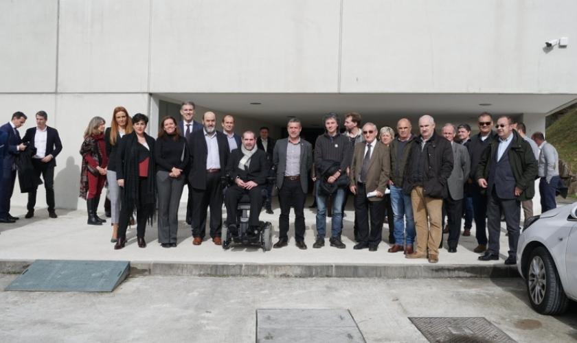 Inauguración del albergue y centro de referencia de parálisis cerebral de Aspace en Lekarotz