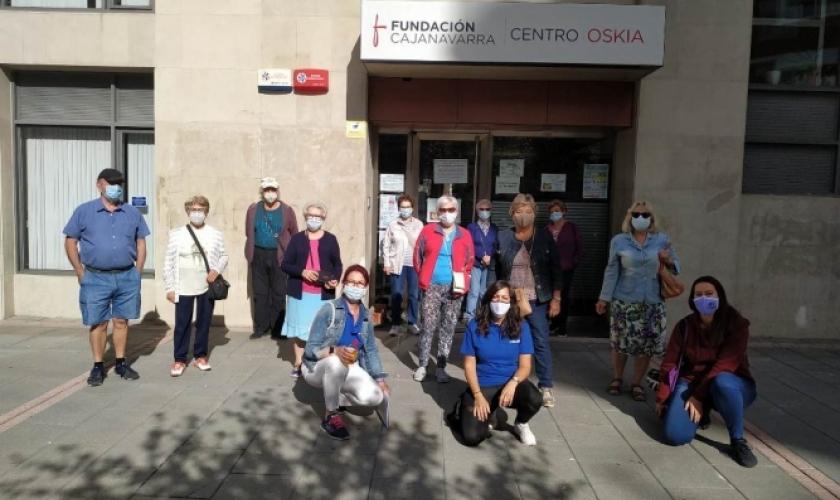 Reunión entre Fundación Caja Navarra y las asociaciones de personas mayores